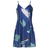 Mini Beach Palm Leaf Print Dresses