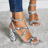 Summer Sandals Open Toe Leather Shoes