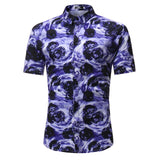 Men Shirt Summer Style Palm Tree Print Hawaiian Shirt