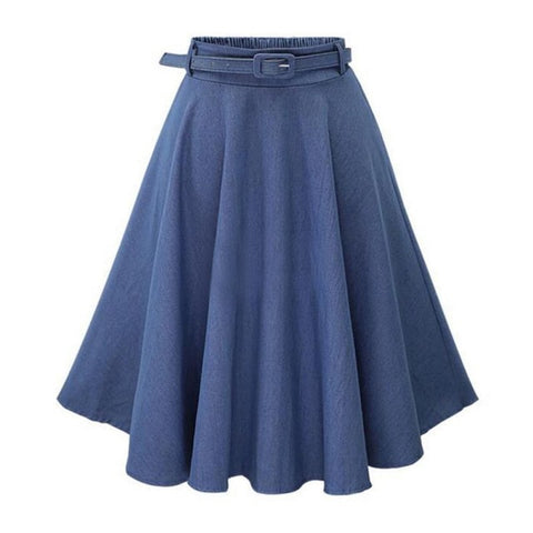 Jeans Skirts  High Elastic Waist