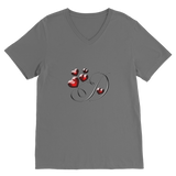 Letters Classic V-Neck T-Shirt