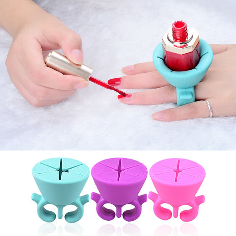 Ring Style Gel Polish Silicone Holder Stand