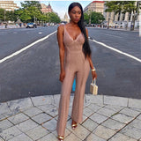 Bandage Sleeveless Boot Cut Rompers