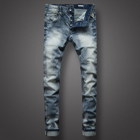 White Wash Fashion Jeans High Quality Slim Fit
