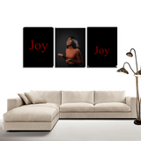Joy 3 Panel Wall Decorations