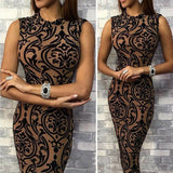 Casual Sleeveless Bodycon Dress