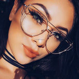Metal  Frame Clear Fashion designer Glasses