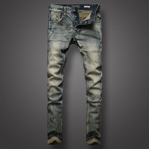 Retro Design Jeans Slim Fit