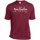 I AM A NEW CREATION IN CHRIST Heather Dri-Fit Moisture-Wicking T-Shirt