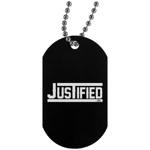 JUSTIFIED Silver Dog Tag