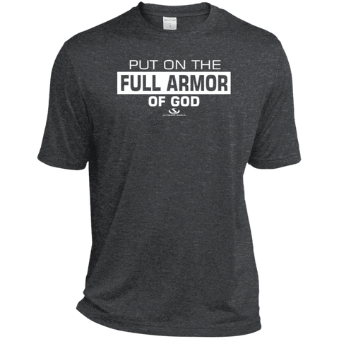 PUT ON THE FULL ARMOR OF GOD Heather Dri-Fit Moisture-Wicking T-Shirt
