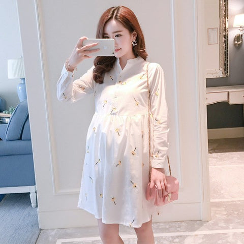 Fashion Maternity Shirt Dress