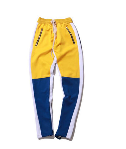Vintage Color Block Patchwork Sweatpants