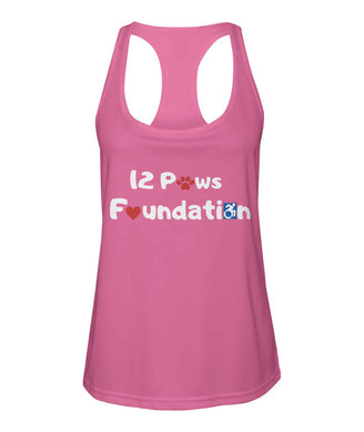 12 Paws Foundation Women's Racerback Sport Tank Top