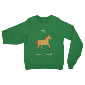 My Horse is My Therapist (White) Classic Adult Sweatshirt