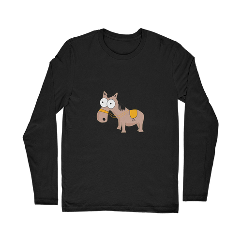 My Crazy Horse is My Therapist (Black) Classic Long Sleeve T-Shirt