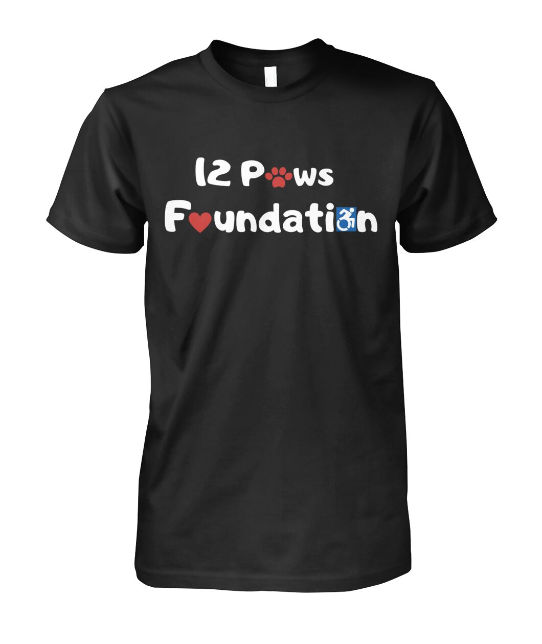 12 Paws Foundation Unisex Cotton