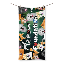 Load image into Gallery viewer, 12 Paws Pattern Mask (Green) Sublimation All Over Towel