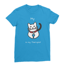 Load image into Gallery viewer, My Cat is My Therapist (White) Classic Women's T-Shirt