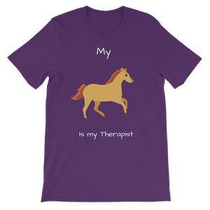 My Horse is My Therapist (White) Classic Kids T-Shirt