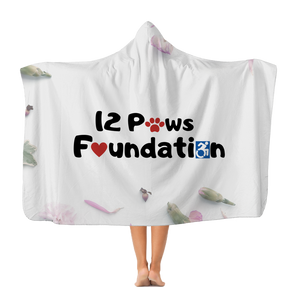 12 Paws Flower Shower Classic Adult Hooded Blanket