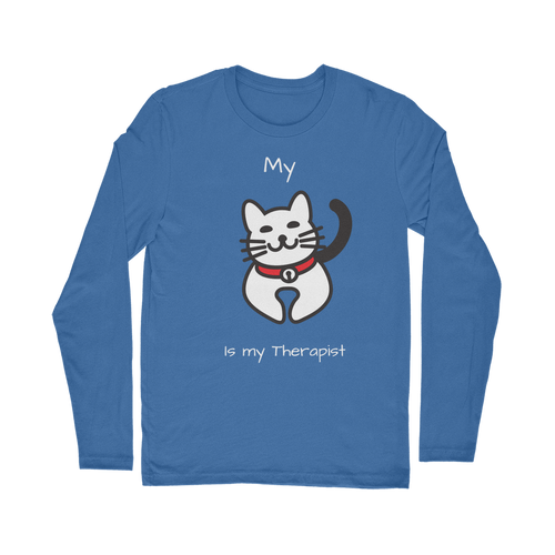 My Cat is My Therapist (White) Classic Long Sleeve T-Shirt