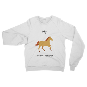My Horse is My Therapist (Black) Classic Adult Sweatshirt