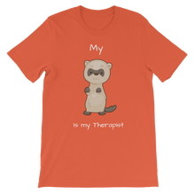 Load image into Gallery viewer, My Ferret is My Therapist (White) Classic Kids T-Shirt