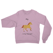 Load image into Gallery viewer, My Horse is My Therapist (Black) Classic Adult Sweatshirt