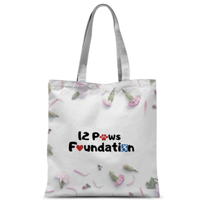 12 Paws Flower Shower Classic Sublimation Tote Bag