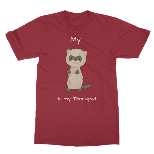 My Ferret is My Therapist (White) Classic Adult T-Shirt