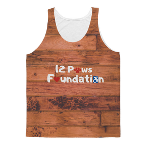 Knock on Wood 12 Paws Pattern Classic Sublimation Adult Tank Top