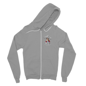 (White Lettering) Friends Fur Life Classic Adult Zip Hoodie