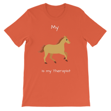 Load image into Gallery viewer, My Horse is My Therapist (White) Classic Kids T-Shirt