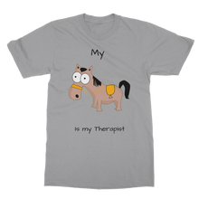 Load image into Gallery viewer, My Crazy Horse is My Therapist (Black) Classic Adult T-Shirt