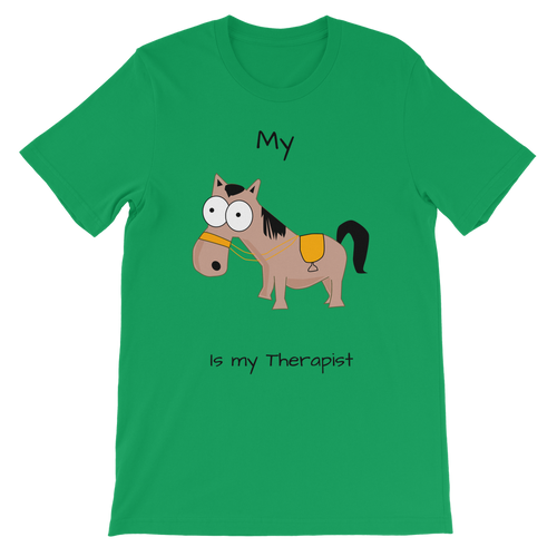 My Crazy Horse is My Therapist (Black) Classic Kids T-Shirt