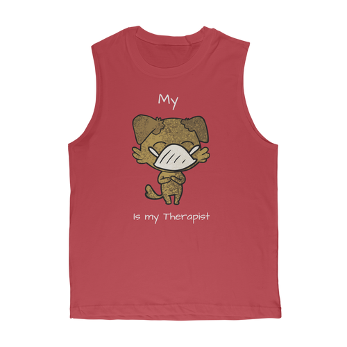 My ?? Is My Therapist (White) Classic Adult Muscle Top