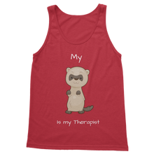 Load image into Gallery viewer, My Ferret is My Therapist (White) Classic Women's Tank Top