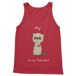 My Ferret is My Therapist (White) Classic Women's Tank Top