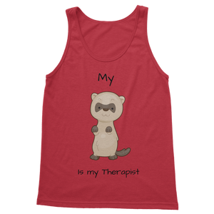 My Ferret is My Therapist (Black) Classic Women's Tank Top