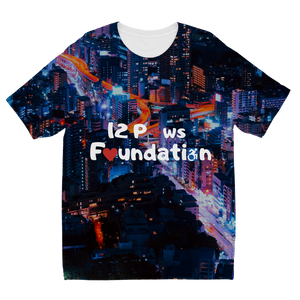 12 Paws Night Lights Pattern Sublimation Kids T-Shirt