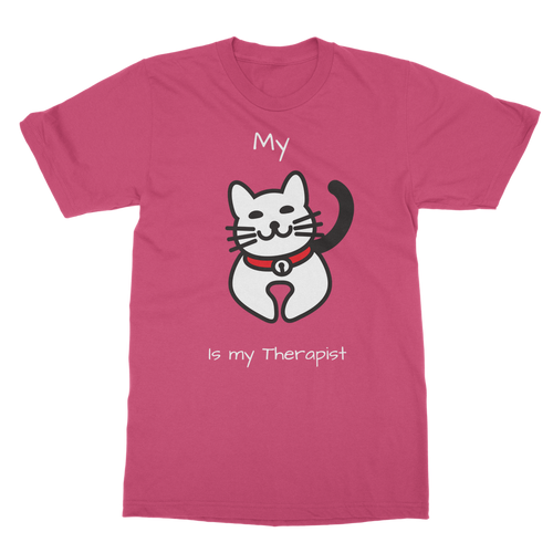 My Cat is My Therapist (White) Classic Adult T-Shirt