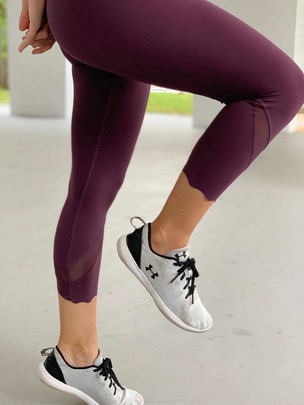 PRANA-Scallop Cropped Leggings