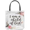 Scripture totebag-I am a child of God