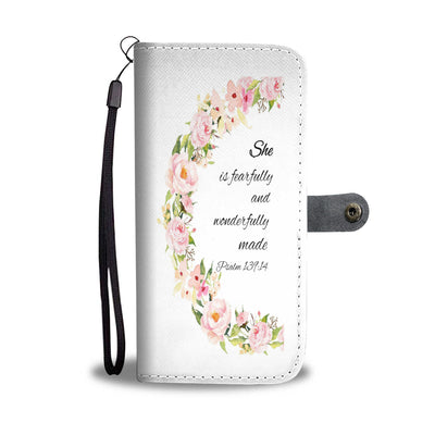 Scripture Quotes Phone Cases-She is fearfully and wonderfully made.