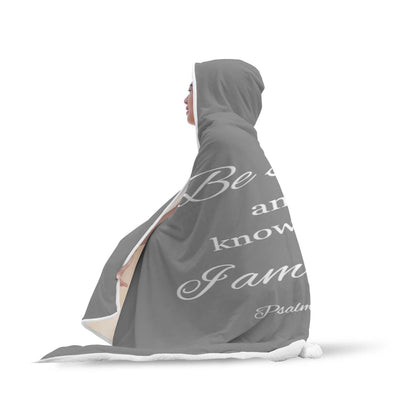 PSALM 46:10 HOODED BLANKET