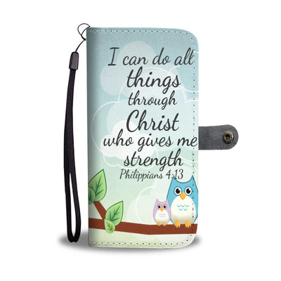Scripture Quotes Wallet Phone Cases-I can do all things through Christ who gives me strength
