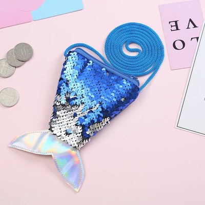Fish sequin coin purse, sequin bag for children