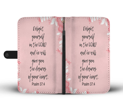 Psalm 37:4 wallet phone case