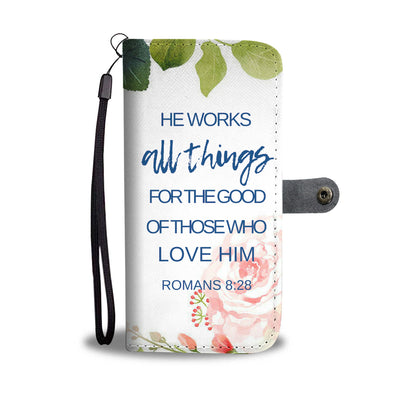 Romans 8:28 wallet phone case
